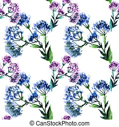 seamless pattern watercolor bouquet