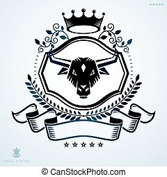 vector, graphic, design, element, vintage, old, heraldry, heraldic, emblem, label, crest, badge, coat of arms, blazon, escutcheon, armory, insignia, award, honor, retro, boutique, decorative, majestic, spear, flag,