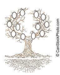 Vector graphic genealogical tree
