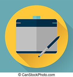 Vector graphic tablet icon
