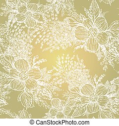 Vector graphics, artistic, stylized seamless pattern...