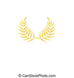 Vector graphics gold and wreath wreaths