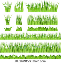 Set of different vector grass
