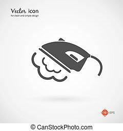 Vector Gray Iron Appliance Icon