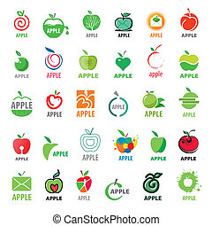 Vector great collection logos apples