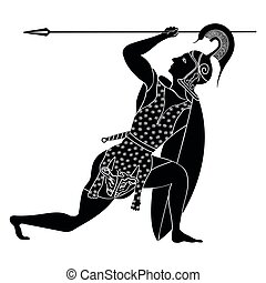 Vector Greek drawing. - Vector illustration in ancient Greek...