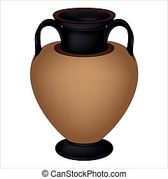 Vector Greek vase.