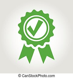 Vector green approved certificate icon