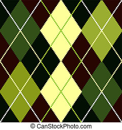 Vector green argyle pattern - Vector argyle seamless...