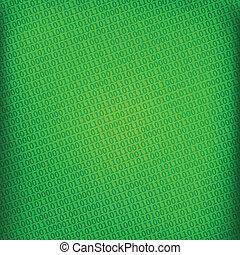 green background with digital binary matrix