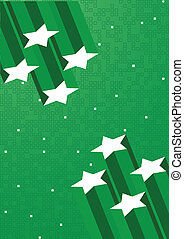 Vector green background with star