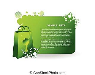 vector green bag