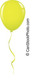 vector green balloon ribbon