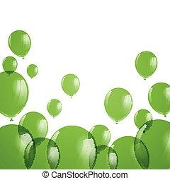 Vector Green Balloons