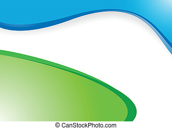 vector green-blue background