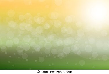 Vector green blurred background
