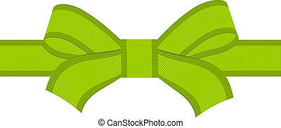 vector green bow