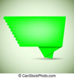 vector green bubble speech for your design