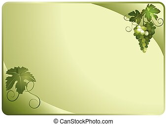 vector green card with grapes