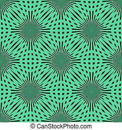 Vector green circle seamless pattern. Modern stylish texture. Repeating abstract background. eps10