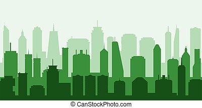 Vector green city