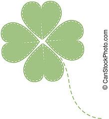 vector green clover four leaf