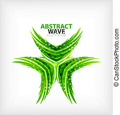 Vector green concept abstract business icon