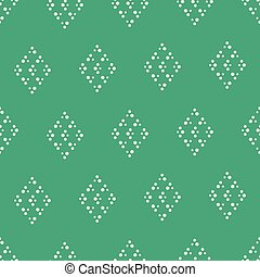 Vector green dotted rhombus seamless pattern background
