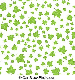 Vector green foliage seamless pattern. Stock illustration for backgrounds, textiles and packaging.