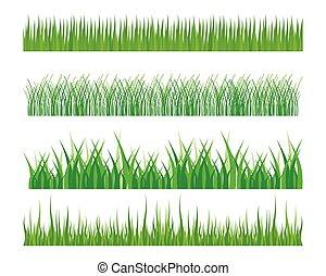 Vector green grass illustration