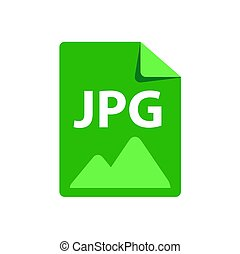 Vector green icon JPG. File format extensions icon.