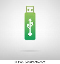 Vector green icon