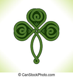 vector green irish clover - vector: green irish clover with...
