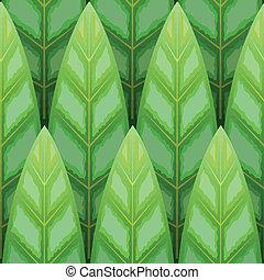 leaf wood row seamless background - vector green leaf wood...