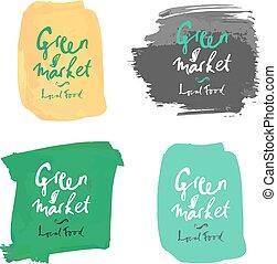 Vector green local market label