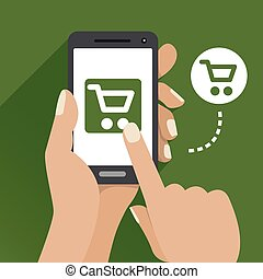 Vector Green Mobile Commerce Icon