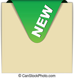 vector green new sign