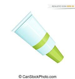green paint tube icon