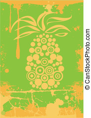 vector green pineapple fruit juice - vector green rectangle...