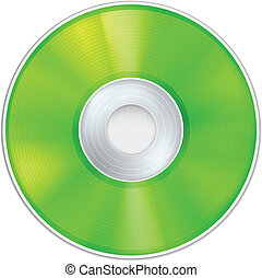 Vector Green Realistic CD Disk