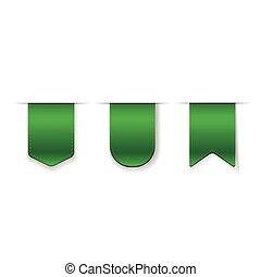 Vector Green Ribbon set