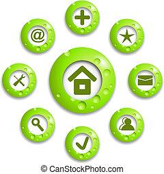Vector green round diagram