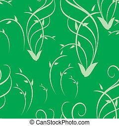 vector green seamless pattern