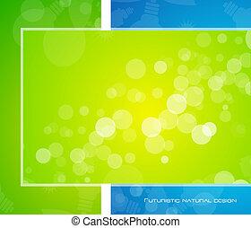 Vector green shiny background