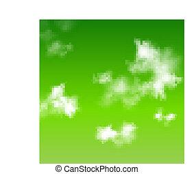 Vector green sky background