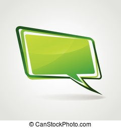 Vector green speech bubble