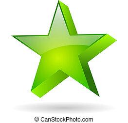 Vector green star