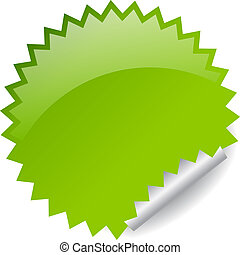 Vector green sticker