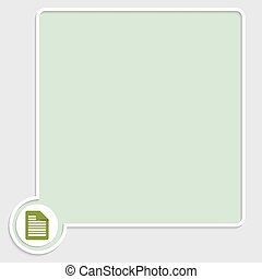 vector green text box with document icon