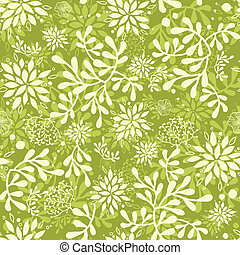 Green underwater plants seamless pattern background - Vector...